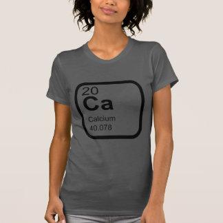 Cálcio - design da ciência da mesa periódica camiseta