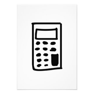 Calculadora dos desenhos animados convite