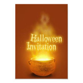 Caldeirão da bruxa do Dia das Bruxas - convite de
