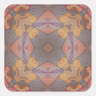 Caleidoscópio colorido 8 dos azulejos de assoalho adesivo em forma quadrada