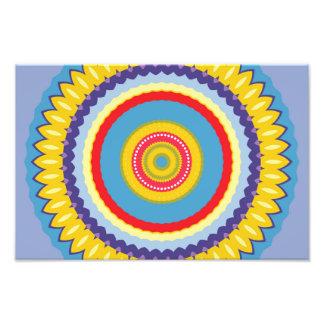 Caleidoscópio colorido da flor impressão de foto