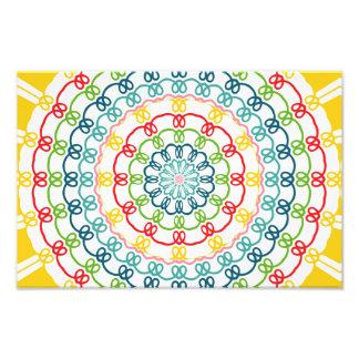 Caleidoscópio colorido das flores impressão de foto