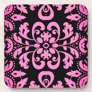 Caleidoscópio cor-de-rosa do damasco porta-copos