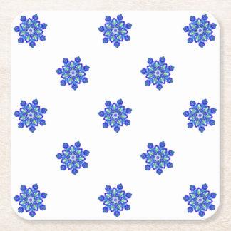 Caleidoscópio da estrela azul do Cornflower Porta-copo De Papel Quadrado