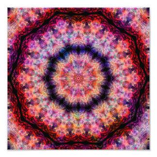 Caleidoscópio dez colorido radial aguçado impressão de foto