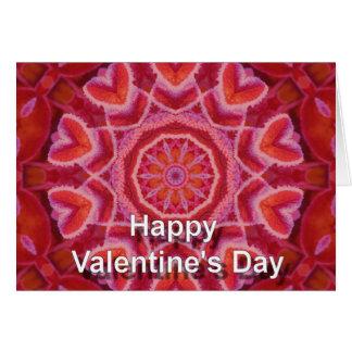 Caleidoscópio do feliz dia dos namorados cartão comemorativo