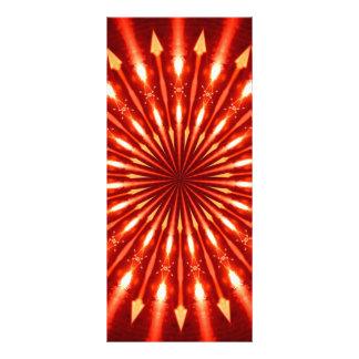 caleidoscópio flamejante das setas 10.16 x 22.86cm panfleto