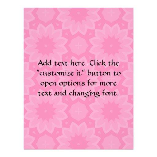 Caleidoscópio floral rosa pálido bonito panfleto personalizado