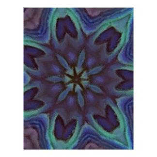 Caleidoscópio iridescente de Shell do olmo Panfleto Coloridos