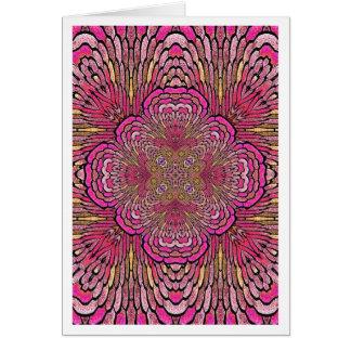 Caleidoscópio no cartão cor-de-rosa Notecard
