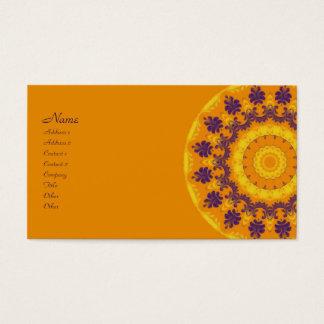 Caleidoscópio régio cartão de visitas