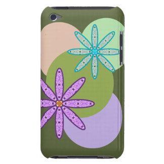 Caleidoscópio retro floral & pontos 1 capa do ipod