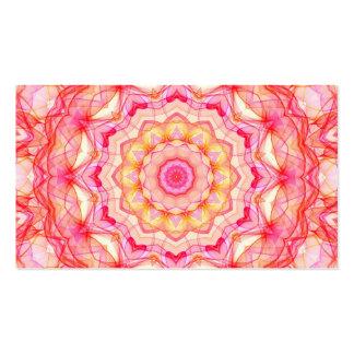 Caleidoscópio romance cor-de-rosa amarelo cartão de visita