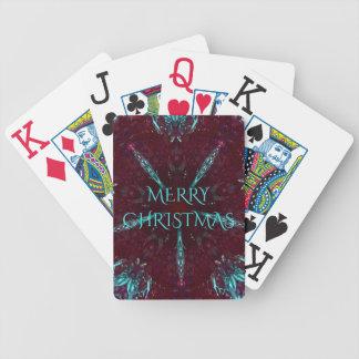 Caleidoscópio vermelho escuro do Feliz Natal de Jogos De Cartas