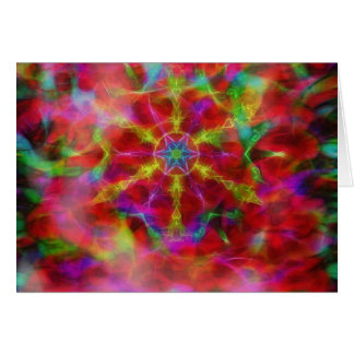 Caleidoscópio vibrante no cartão horizontal