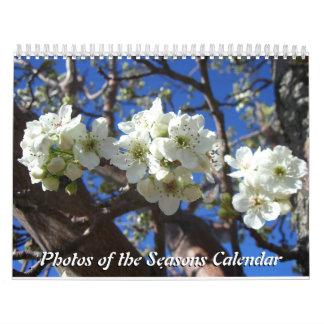 Calendário 12 meses das fotos das estações, 10o edição