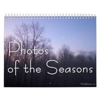 Calendário 12 meses das fotos das estações, 11a edição