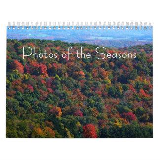 Calendário 12 meses das fotos das estações, 9a edição