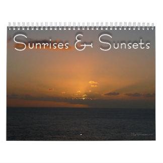 Calendário 12 meses do nascer do sol e do pôr do sol, 4o