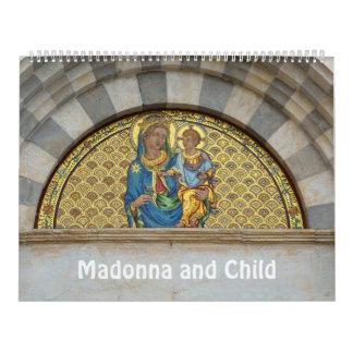 Calendário 12 meses Madonna e criança