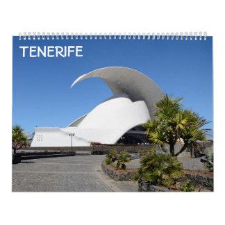 Calendário 12 meses Tenerife 2018