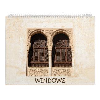 Calendário 12 meses Windows decorativo