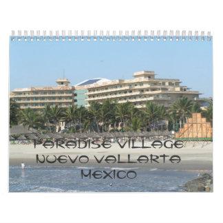 Calendário 141, vila Nuevo Vallarta México do paraíso