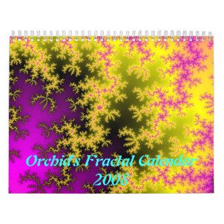 Calendário 2008 do Fractal da orquídea