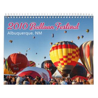 Calendário 2010 Albuquerque, festival do balão do nanômetro