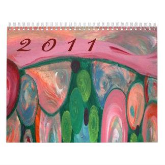 Calendário 2011 abstrato