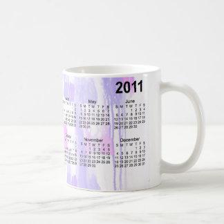 Calendário 2011 abstrato caneca de café