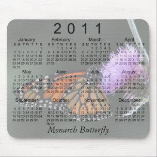 Calendário 2011 da borboleta de monarca mousepad