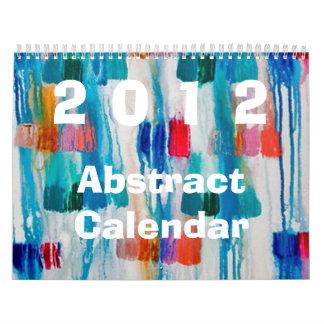 Calendário 2012 abstrato