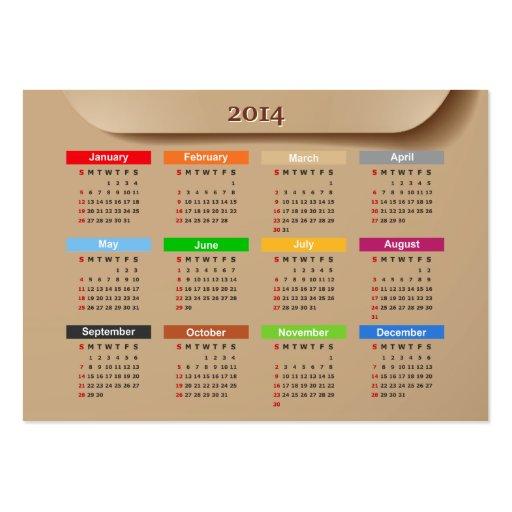 Calendário 2014 com estilo legal | do papel de emb cartao de visita