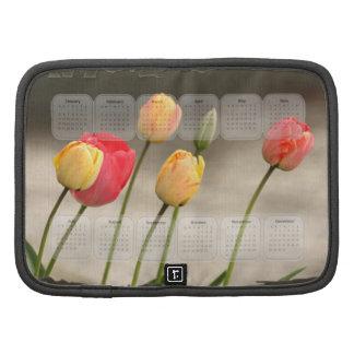 Calendário 2014 das tulipas do primavera organizador