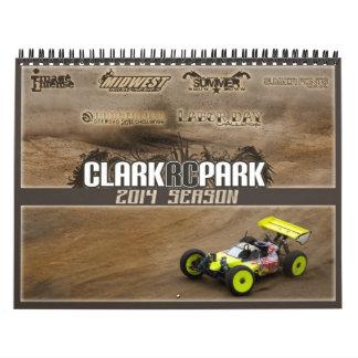 Calendário 2014 do parque de Clark RC