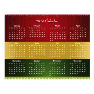 Calendário 2014 para a bênção do Natal & do ano no Cartoes Postais