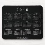 Calendário 2015 branco de néon por Janz Mousepad