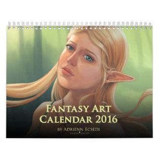 Calendário 2016 da arte da fantasia por Adrienn