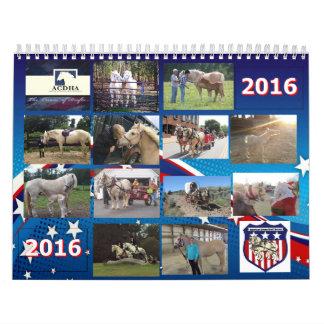 Calendário 2016 de ACDHA