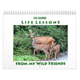 Calendário 2016 do animal das lições da vida