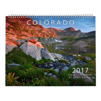 Calendário 2017 cénico de Colorado
