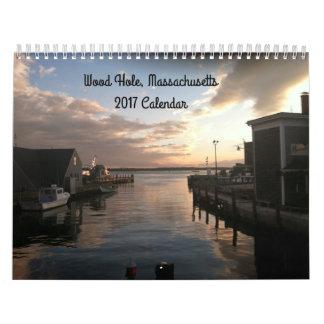 Calendário 2017 da foto de Cape Cod do furo das