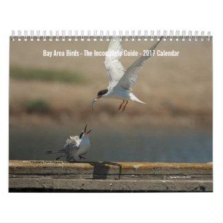 Calendário 2017 da foto dos pássaros da área da