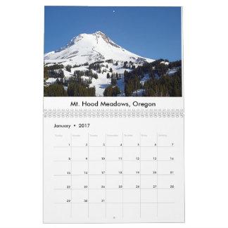 Calendário 2017 de Oregon-Washington