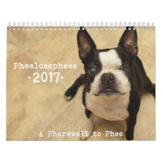 Calendário 2017 de Pheelosophees