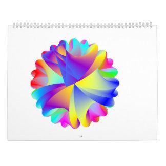Calendário 2017 do arco-íris da arte abstracta