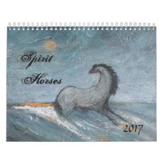 Calendário 2017 do cavalo do espírito