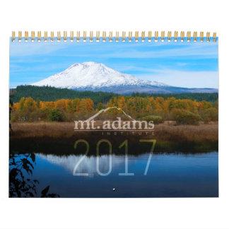 Calendário 2017 do instituto do Mt. Adams