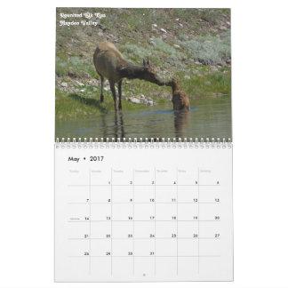 Calendário 2017 do parque nacional de Yellowstone